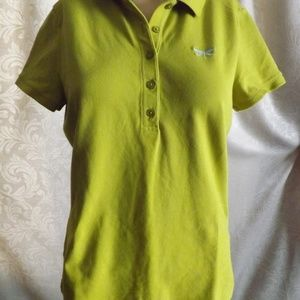 Womens TALBOTS Polo - Dragonfly - Green - Sz M